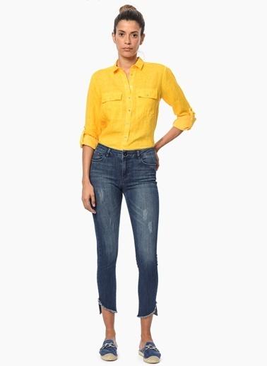 Network %100 Keten Gömlek Sarı